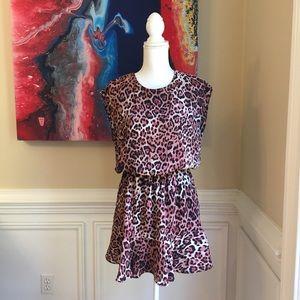 THREE EIGHTY TWO Pink Leopard Print Dress